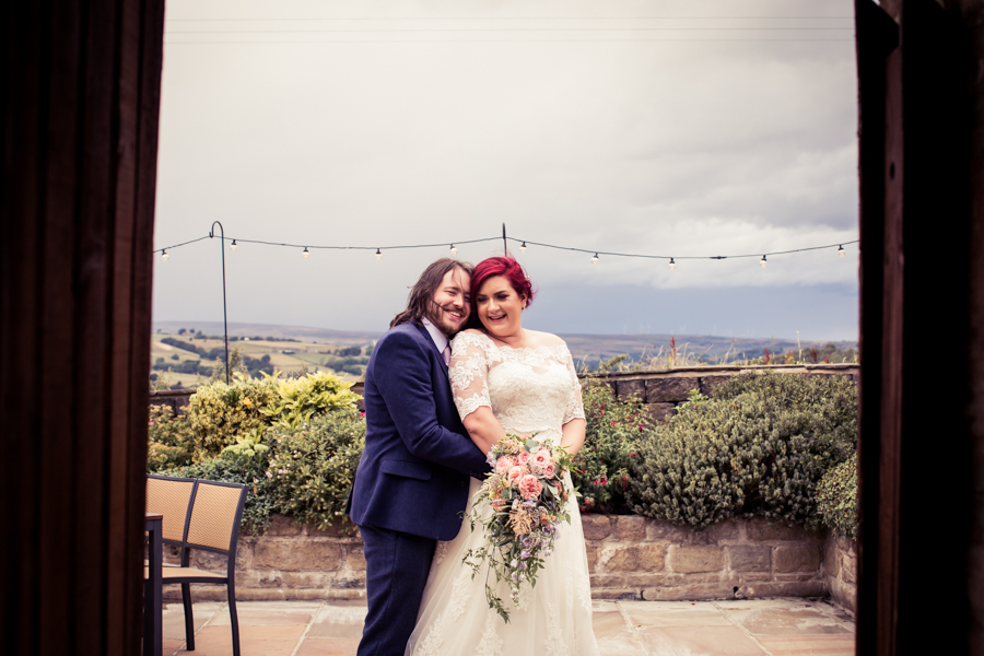 Gorgeous mixed summer florals for a romantic countryside wedding near Huddersfield, with Photography by Kathryn (36)