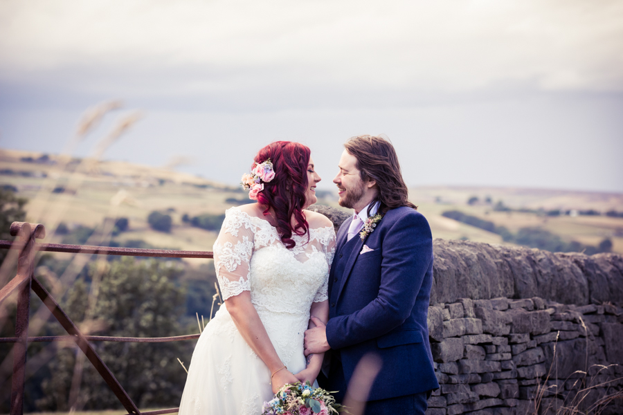 Gorgeous mixed summer florals for a romantic countryside wedding near Huddersfield, with Photography by Kathryn (6)