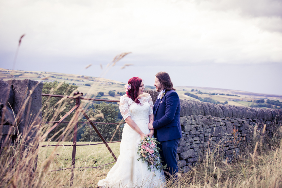 Gorgeous mixed summer florals for a romantic countryside wedding near Huddersfield, with Photography by Kathryn (7)