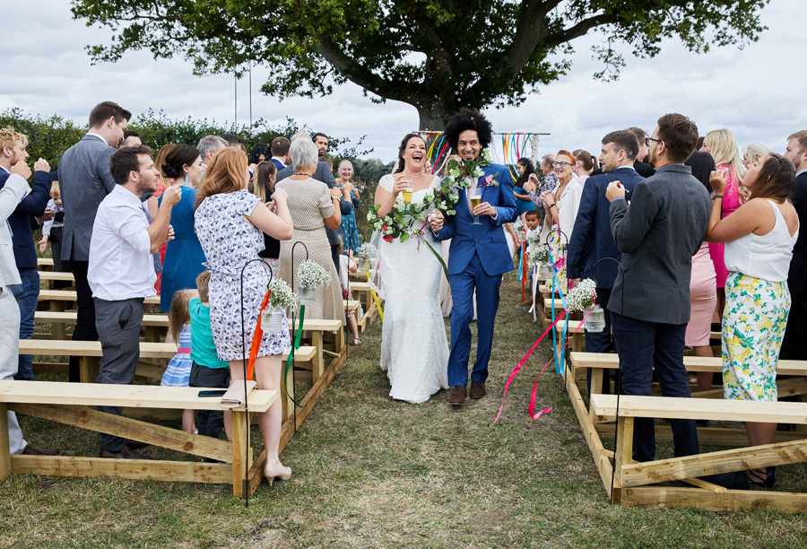 Vibrant ribbon streamers for a summer festival wedding with Simon Withyman Photography (21)