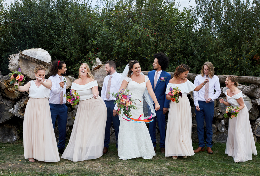Vibrant ribbon streamers for a summer festival wedding with Simon Withyman Photography (22)