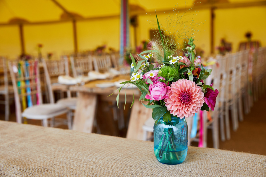 Vibrant ribbon streamers for a summer festival wedding with Simon Withyman Photography (24)