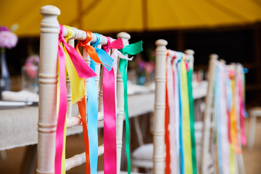 Vibrant ribbon streamers for a summer festival wedding with Simon Withyman Photography (25)