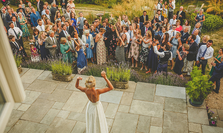 Somerset garden wedding with a beautiful designer dress, photo credit Howell Jones Photography (37)