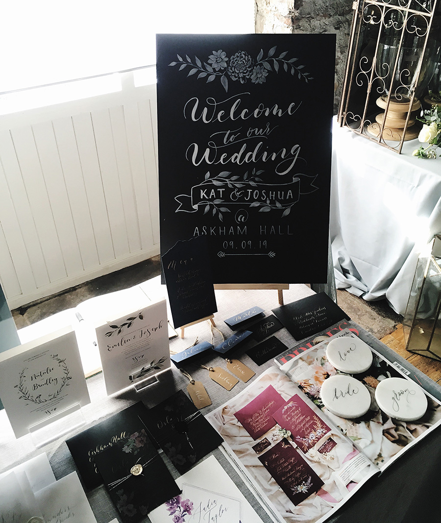Askham Hall's recommended wedding calligrapher and stationery designer (5)