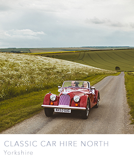 Classic car hire north uk yorkshire manchester cumbria lancashire durham newcastle