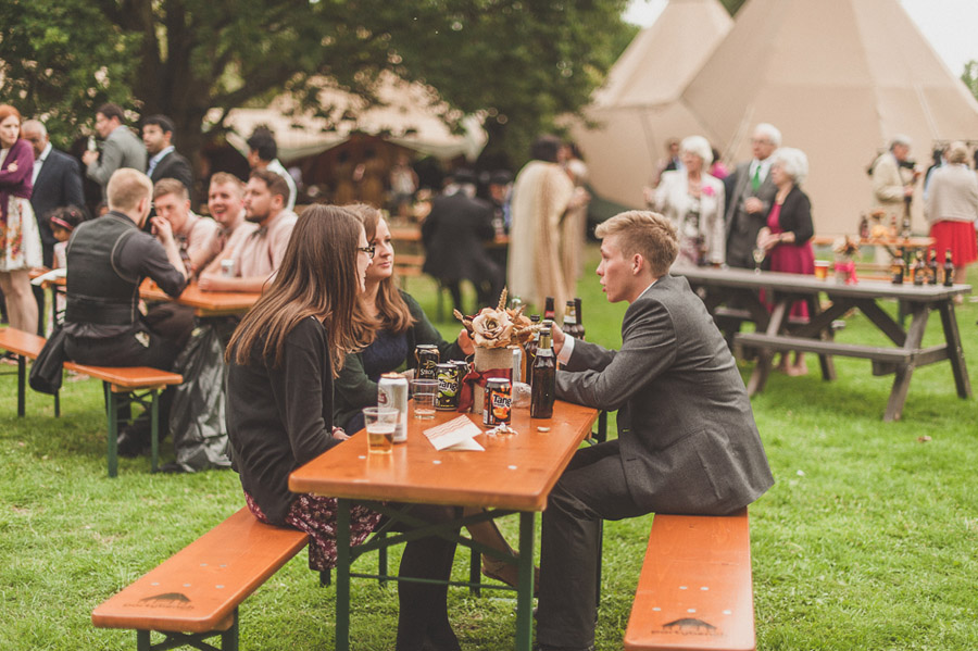 Sustainable and beautiful wedding benches for festival wedding seating by Partybench (6)