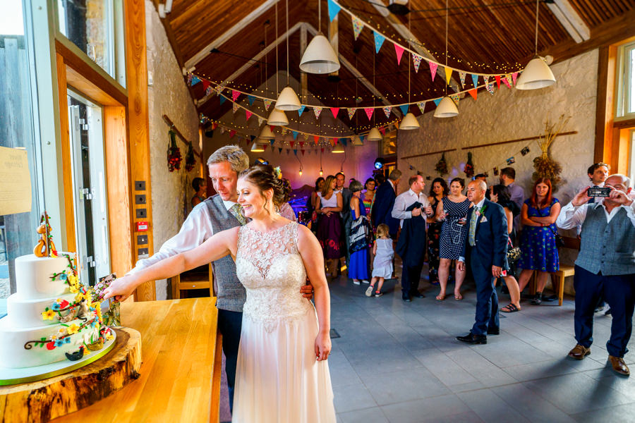 Colourful bunting for a summer wedding at River Cottage, images by Spencer White Photography (39)