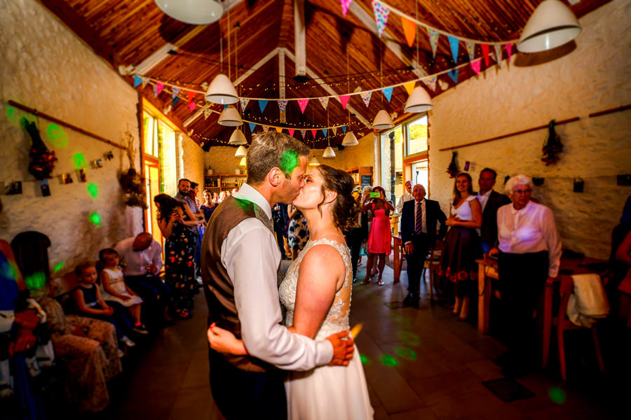Colourful bunting for a summer wedding at River Cottage, images by Spencer White Photography (40)