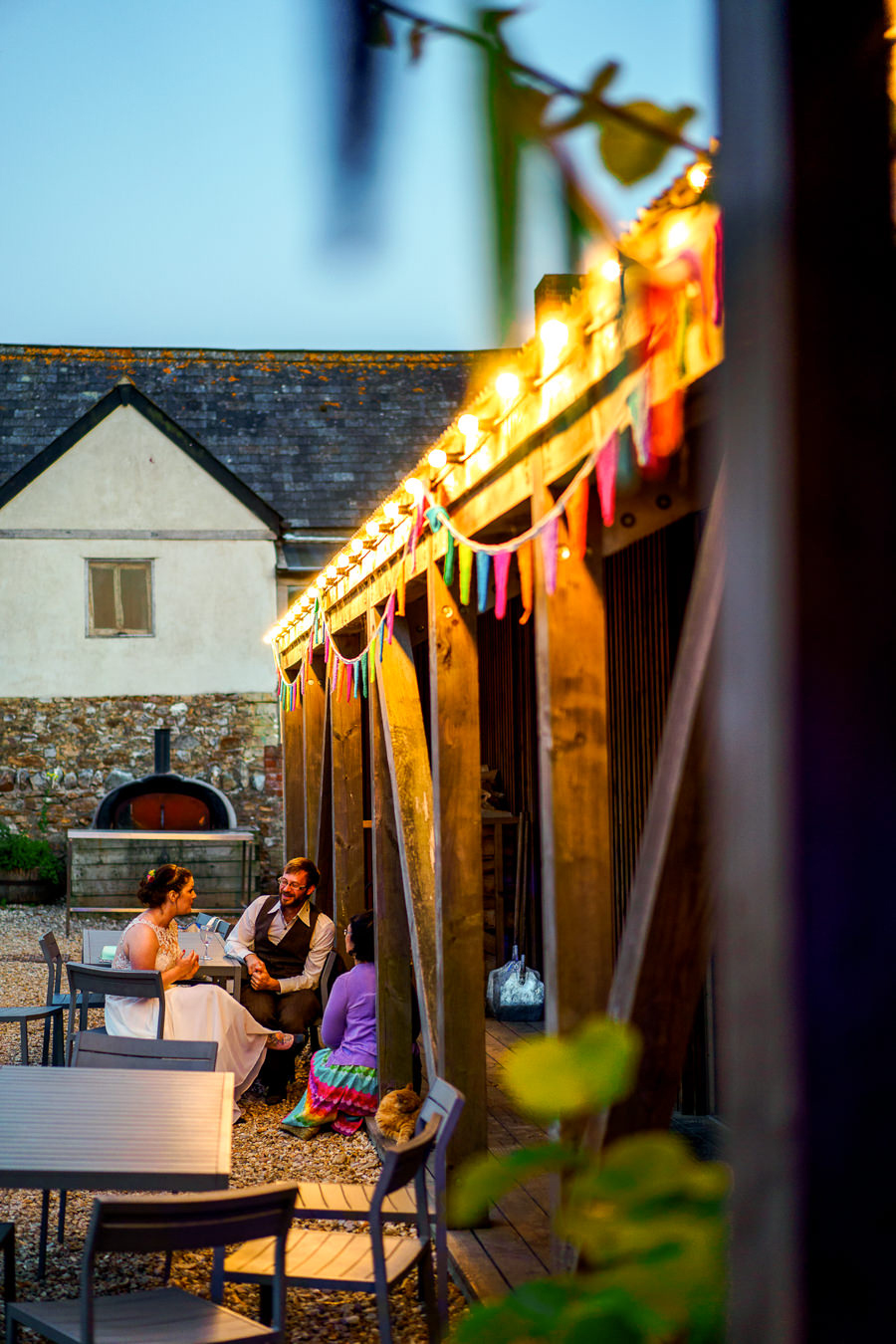 Colourful bunting for a summer wedding at River Cottage, images by Spencer White Photography (9)