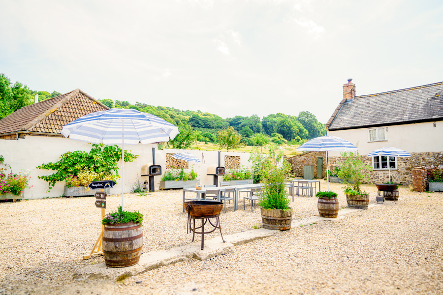 Colourful bunting for a summer wedding at River Cottage, images by Spencer White Photography (14)