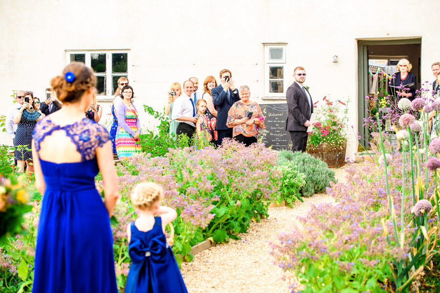 Colourful bunting for a summer wedding at River Cottage, images by Spencer White Photography (20)