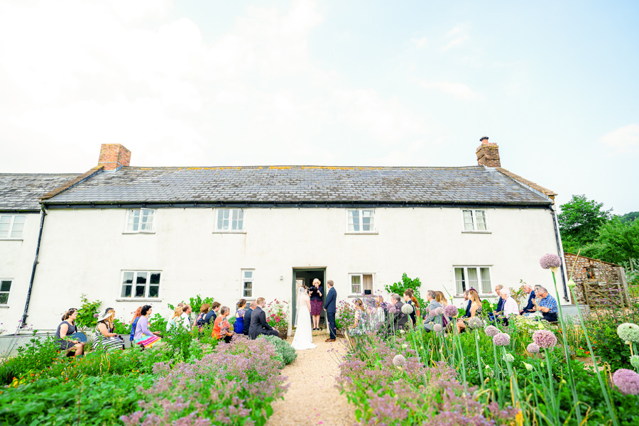 Colourful bunting for a summer wedding at River Cottage, images by Spencer White Photography (22)