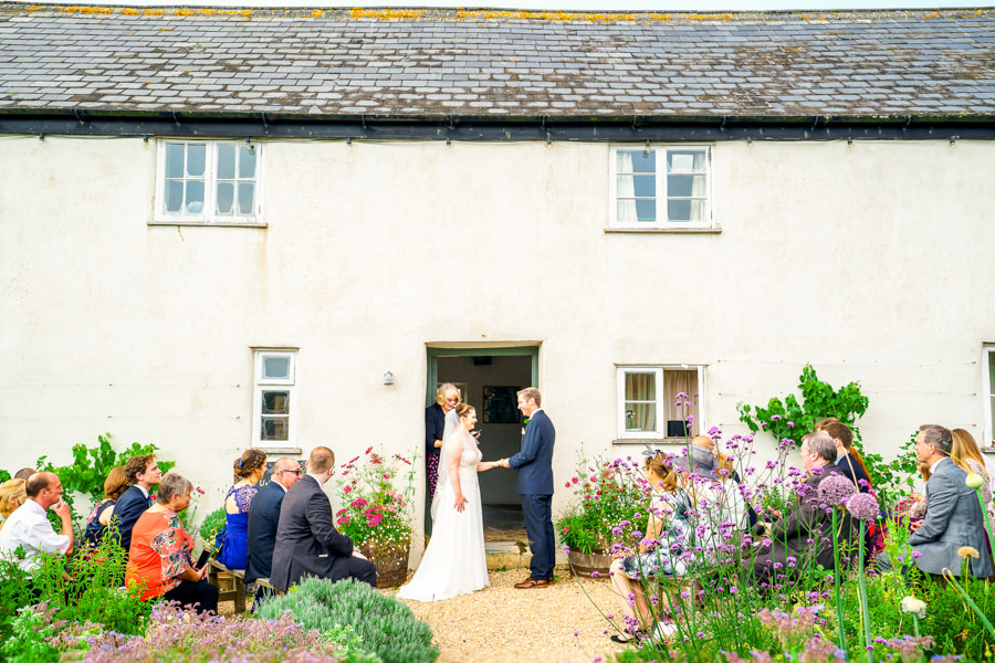Colourful bunting for a summer wedding at River Cottage, images by Spencer White Photography (24)