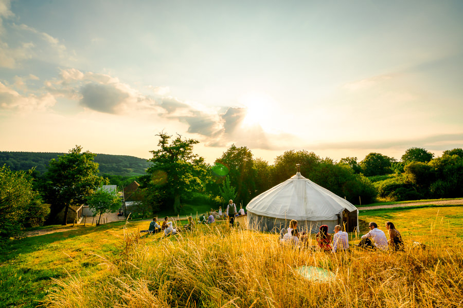 Colourful bunting for a summer wedding at River Cottage, images by Spencer White Photography (38)