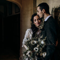 Moodily beautiful Legacy bridal shoot at Lanwades Hall in Suffolk
