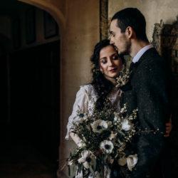 Moodily beautiful Legacy bridal shoot at Lanwades Hall in Suffolk