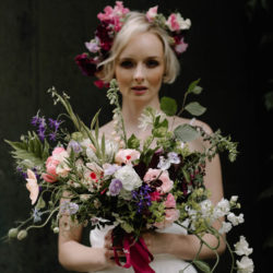 Romantic and floral wedding style ideas from Garthmyl Hall