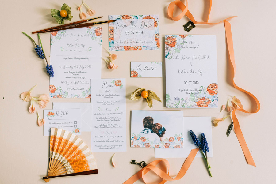 coral and neutral colour palette for a stunning wedding look with Corky and Prince, image credit Rachel Jane Photography (11)