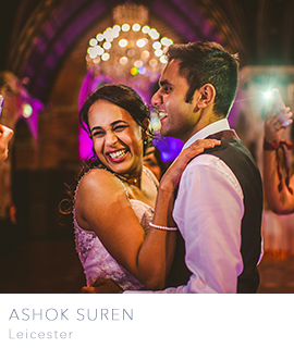Leicester wedding photographer Ashok Suren