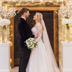 Lisa & Mark's black tie wedding at Caswell House, with Amanda Karen Photography
