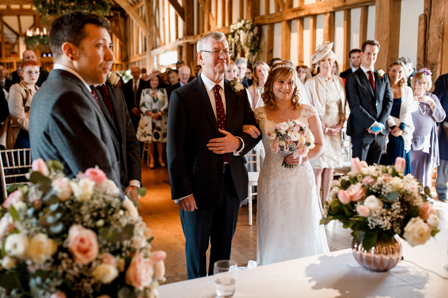 Sarah & Rob's relaxed and romantic English barn wedding at Micklefield, photo credit Damion Mower Photography (7)