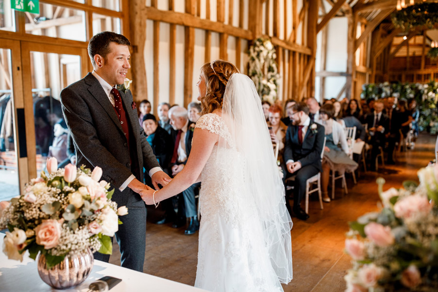 Sarah & Rob's relaxed and romantic English barn wedding at Micklefield, photo credit Damion Mower Photography (8)