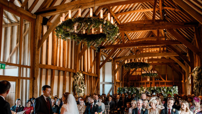 Sarah & Rob's relaxed and romantic English barn wedding at Micklefield, photo credit Damion Mower Photography (9)