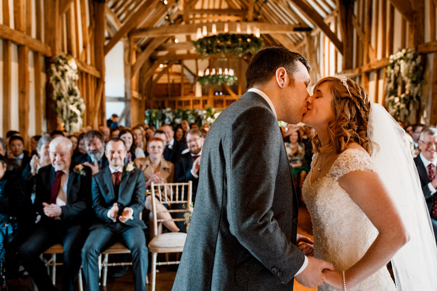 Sarah & Rob's relaxed and romantic English barn wedding at Micklefield, photo credit Damion Mower Photography (10)
