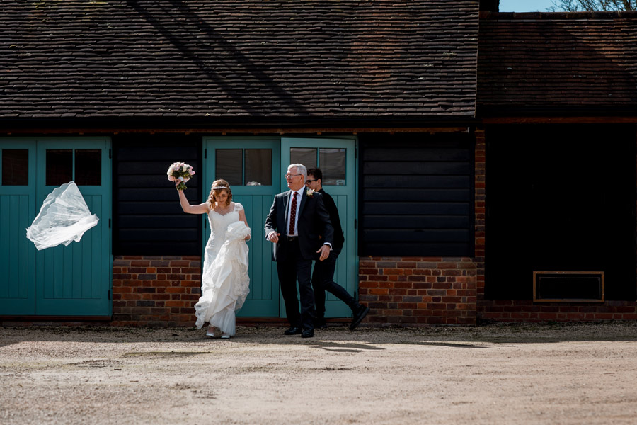 Sarah & Rob's relaxed and romantic English barn wedding at Micklefield, photo credit Damion Mower Photography (27)