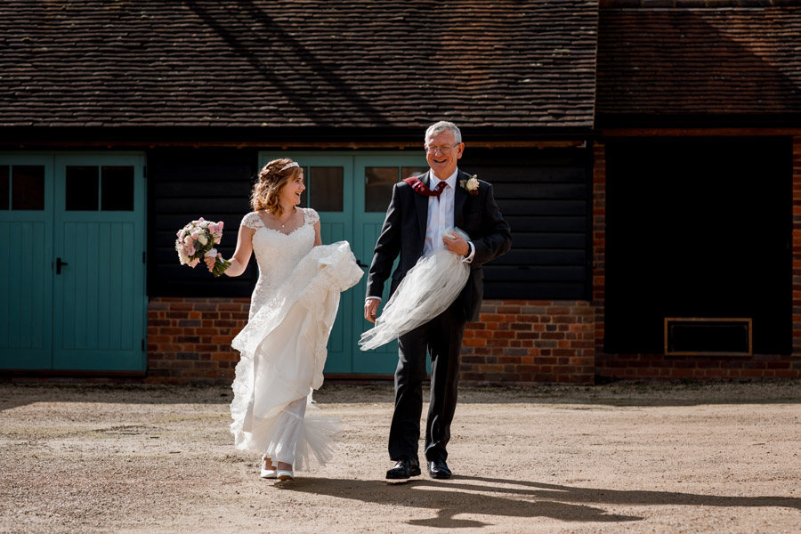 Sarah & Rob's relaxed and romantic English barn wedding at Micklefield, photo credit Damion Mower Photography (29)