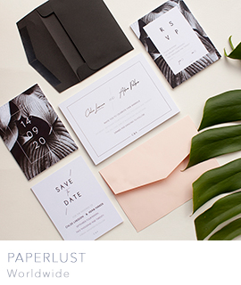 elegant wedding invitations from Paperlust