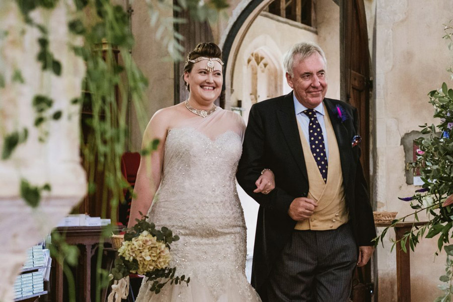 Caroline and Sid's brilliantly fun party wedding at Barn Drift, image credit York Place Studios (17)