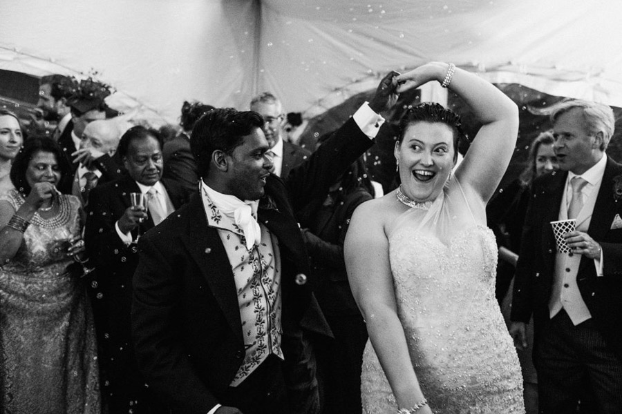 Caroline and Sid's brilliantly fun party wedding at Barn Drift, image credit York Place Studios (36)
