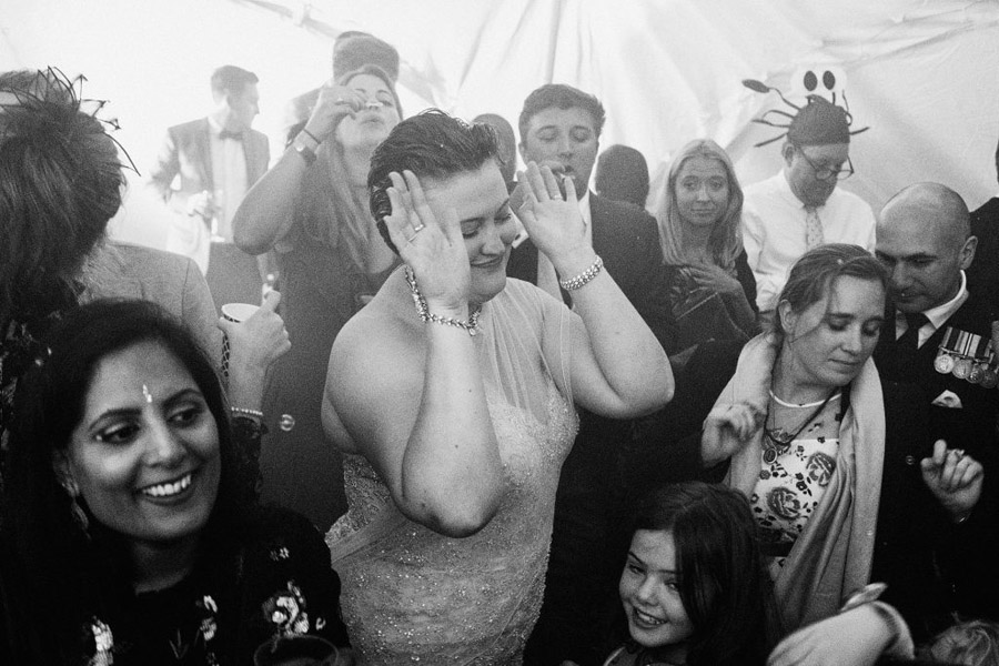 Caroline and Sid's brilliantly fun party wedding at Barn Drift, image credit York Place Studios (38)