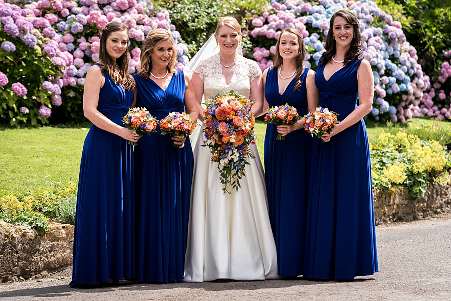 Sarah & Michael's coral and blue Mapperton House wedding, with Linus Moran Photography on the English Wedding Blog (8)