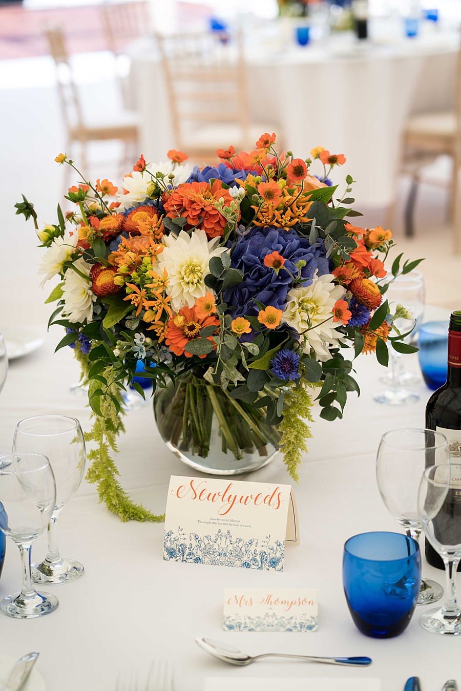 Sarah & Michael's coral and blue Mapperton House wedding, with Linus Moran Photography on the English Wedding Blog (9)