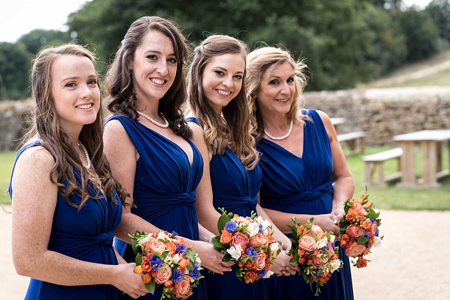 Sarah & Michael's coral and blue Mapperton House wedding, with Linus Moran Photography on the English Wedding Blog (11)
