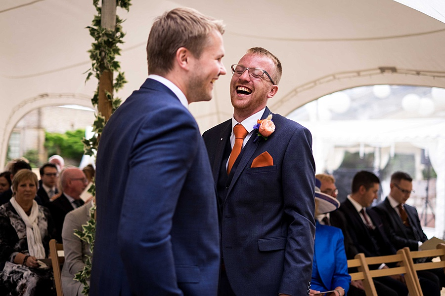 Sarah & Michael's coral and blue Mapperton House wedding, with Linus Moran Photography on the English Wedding Blog (12)