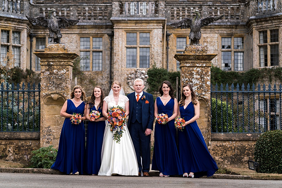 Sarah & Michael's coral and blue Mapperton House wedding, with Linus Moran Photography on the English Wedding Blog (13)