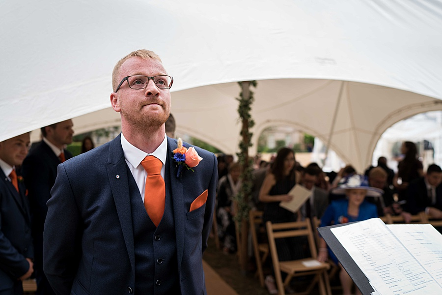 Sarah & Michael's coral and blue Mapperton House wedding, with Linus Moran Photography on the English Wedding Blog (14)