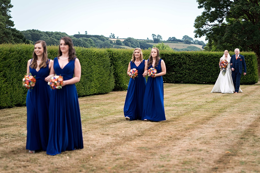 Sarah & Michael's coral and blue Mapperton House wedding, with Linus Moran Photography on the English Wedding Blog (15)