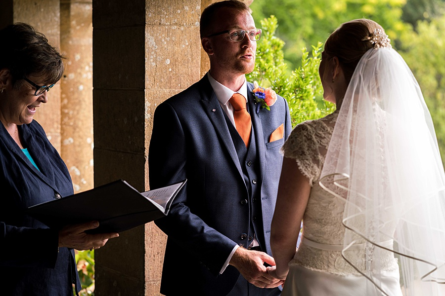 Sarah & Michael's coral and blue Mapperton House wedding, with Linus Moran Photography on the English Wedding Blog (19)
