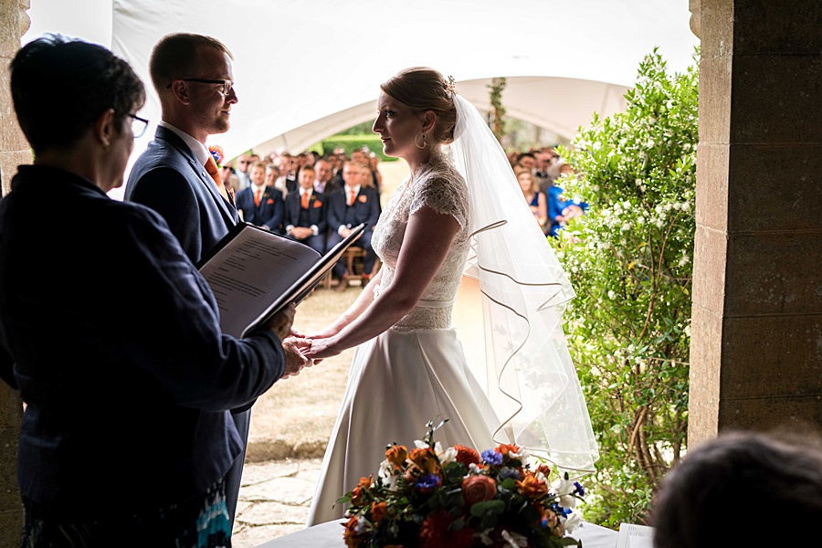 Sarah & Michael's coral and blue Mapperton House wedding, with Linus Moran Photography on the English Wedding Blog (20)
