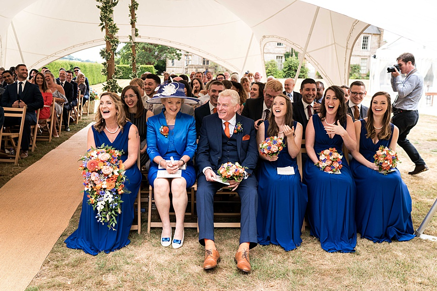 Sarah & Michael's coral and blue Mapperton House wedding, with Linus Moran Photography on the English Wedding Blog (23)