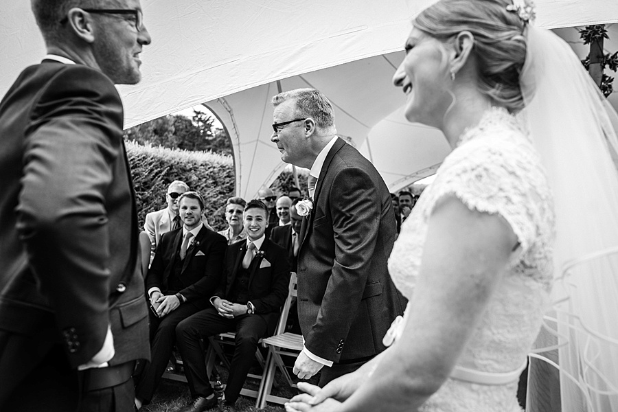 Sarah & Michael's coral and blue Mapperton House wedding, with Linus Moran Photography on the English Wedding Blog (26)