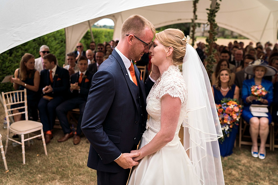 Sarah & Michael's coral and blue Mapperton House wedding, with Linus Moran Photography on the English Wedding Blog (27)