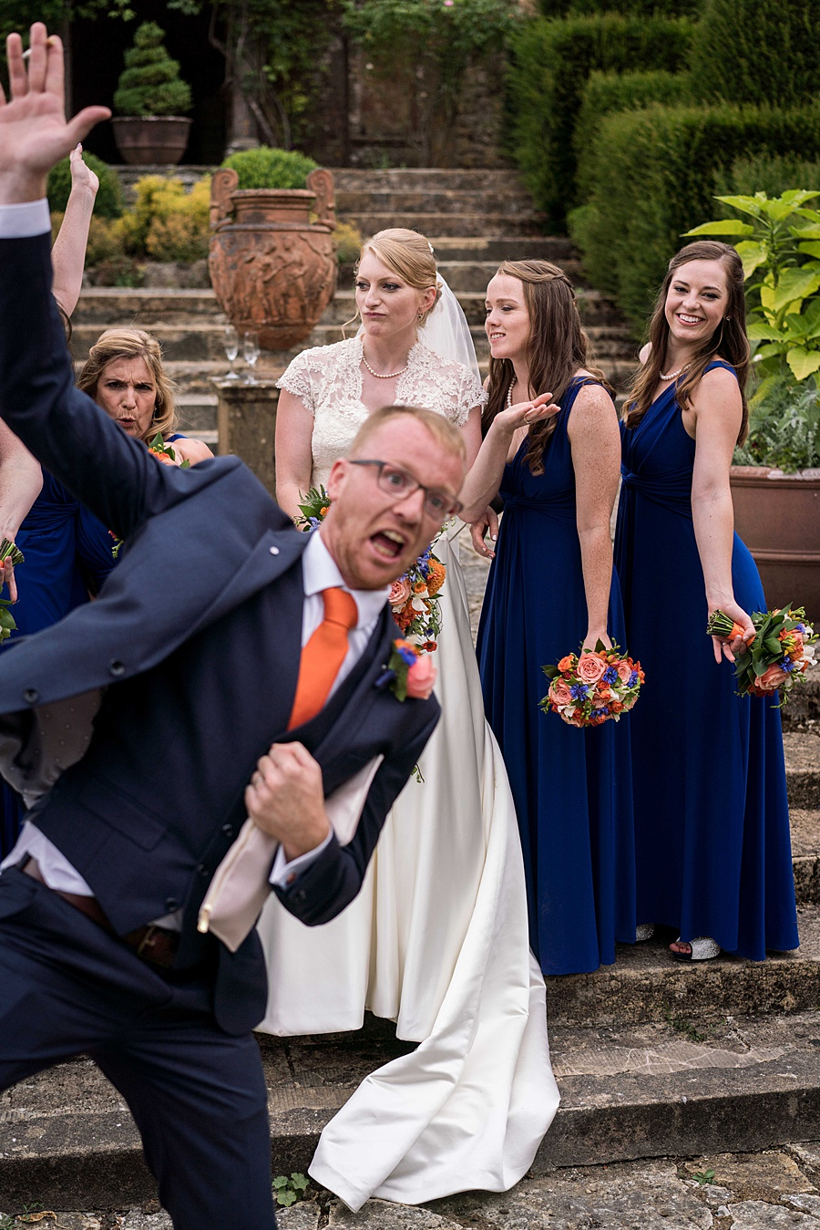 Sarah & Michael's coral and blue Mapperton House wedding, with Linus Moran Photography on the English Wedding Blog (34)