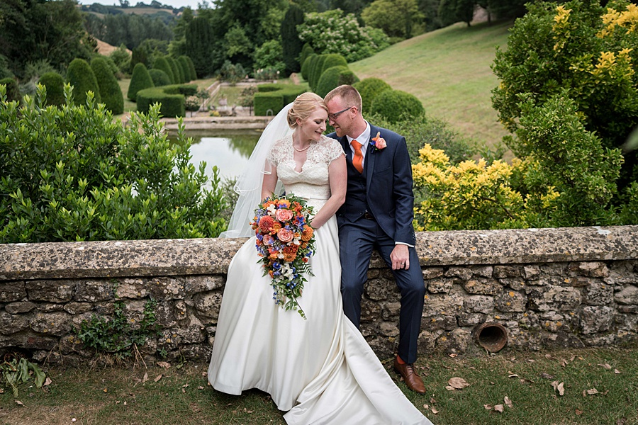Sarah & Michael's coral and blue Mapperton House wedding, with Linus Moran Photography on the English Wedding Blog (37)