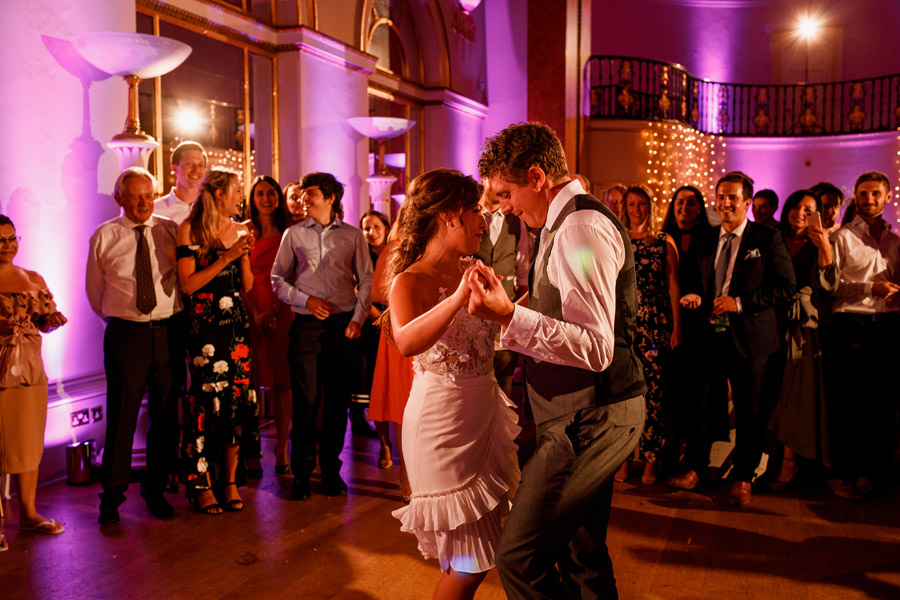 Fabulous party atmosphere for Rhalina & Toby's Landsdowne Club wedding. Damion Mower Photography on English-Wedding.com (27)